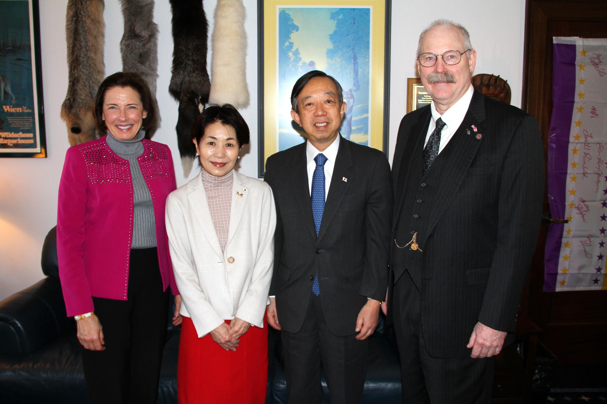 Senate President Giessel and Senator Stedman met w/  Consul Masatoshi Sato and his wife Kazue Sato