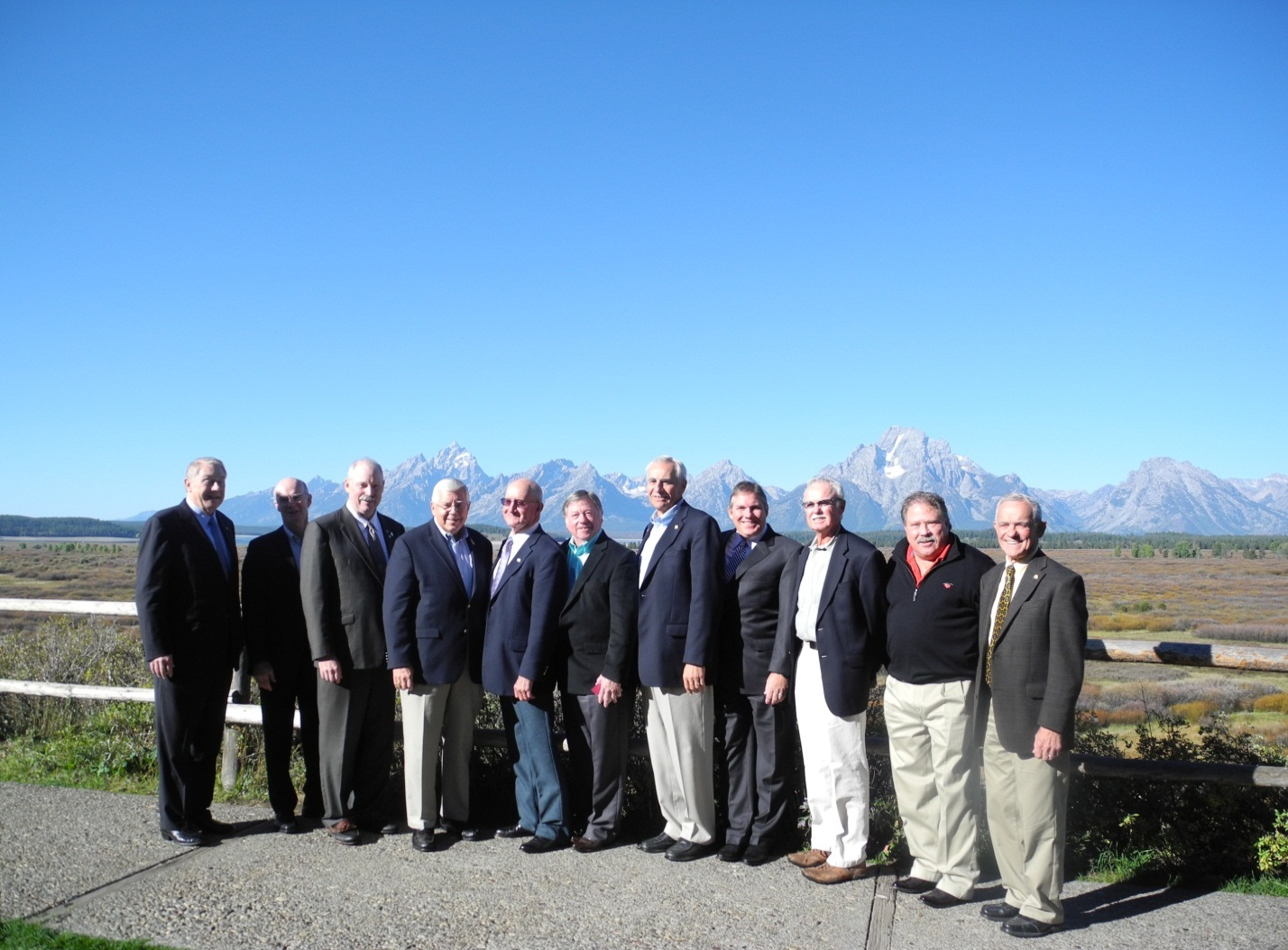 The leadership of the Energy Council and members of the Wyoming Legislature join Alaska Senator Bert Stedman, Chairman of The Energy Council (third from left), in welcoming U.S. Senator Mike Enzi of Wyoming to the Council's 2013 Annual Meeting. Senator Enzi (fourth from left), delivered the Keynote Address at the Annual Meeting.