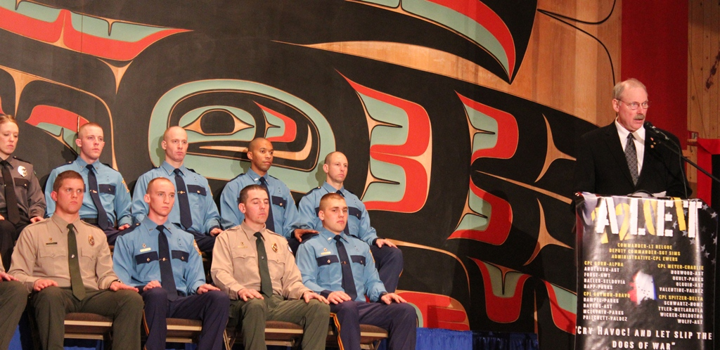 Speaking at graduation ceremony of the Sitka Public Safety Academy