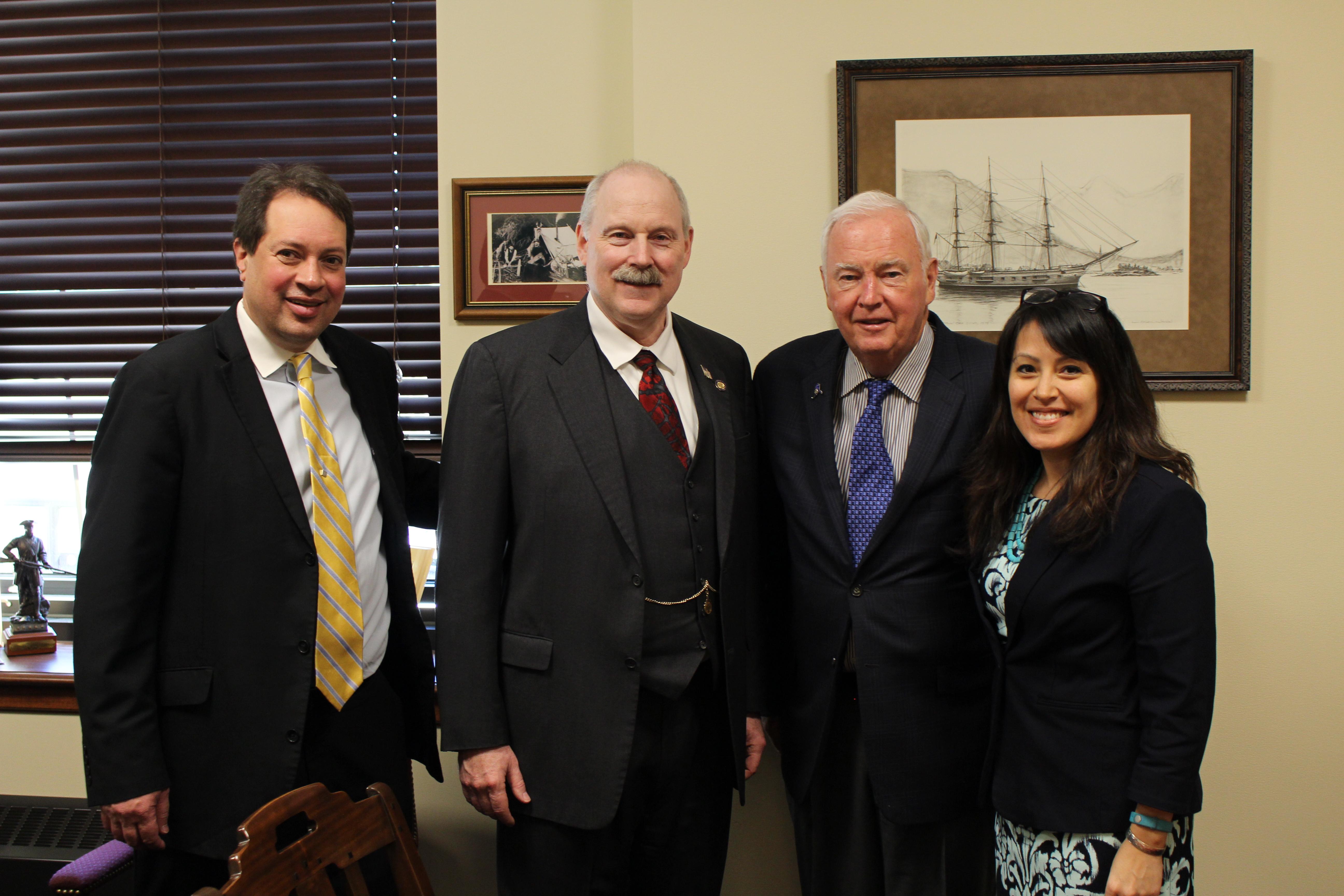 Senator Stedman and staff with Governor Frank Murkowski