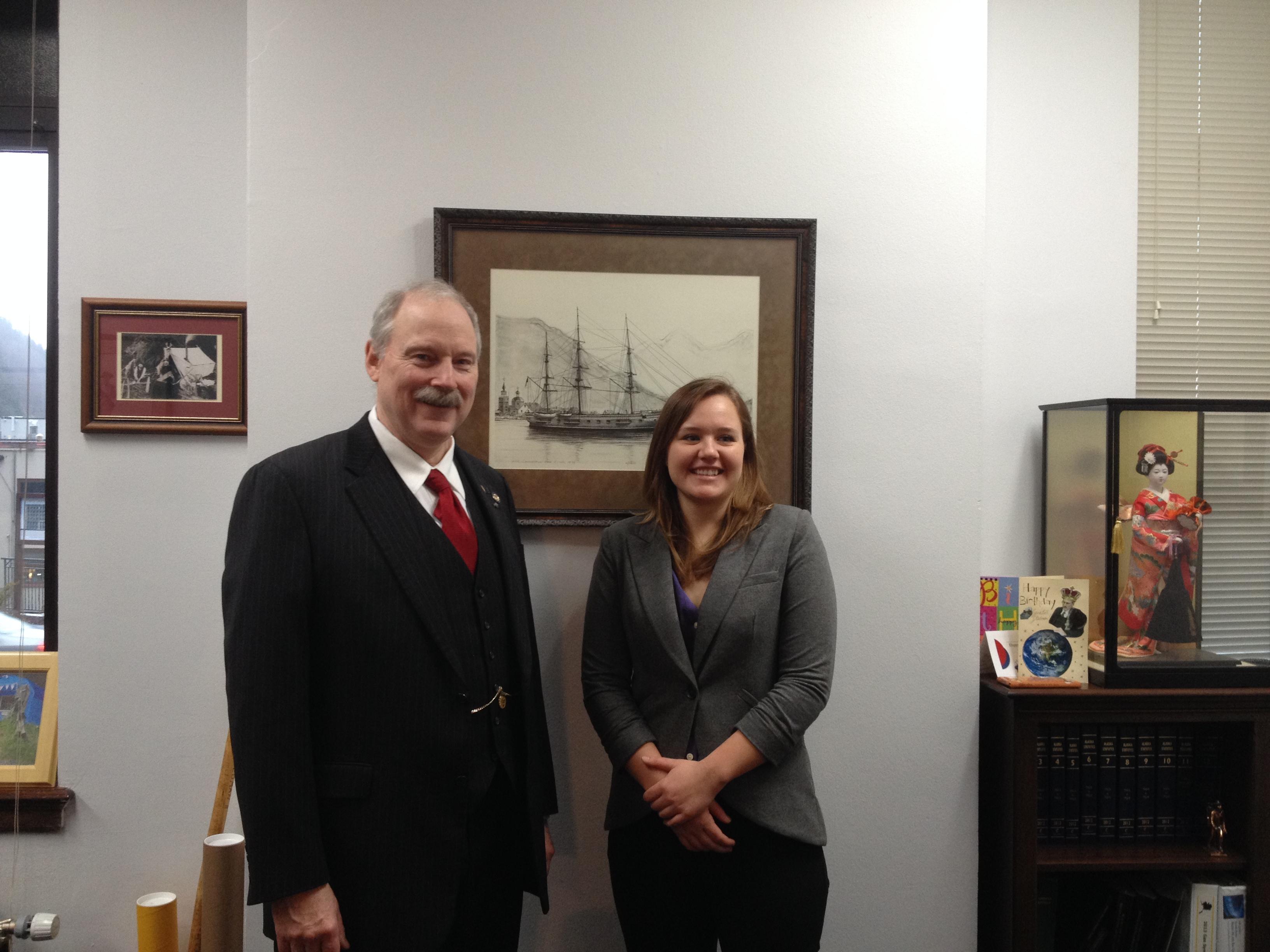 Senator Stedman with Kaleigh Holm