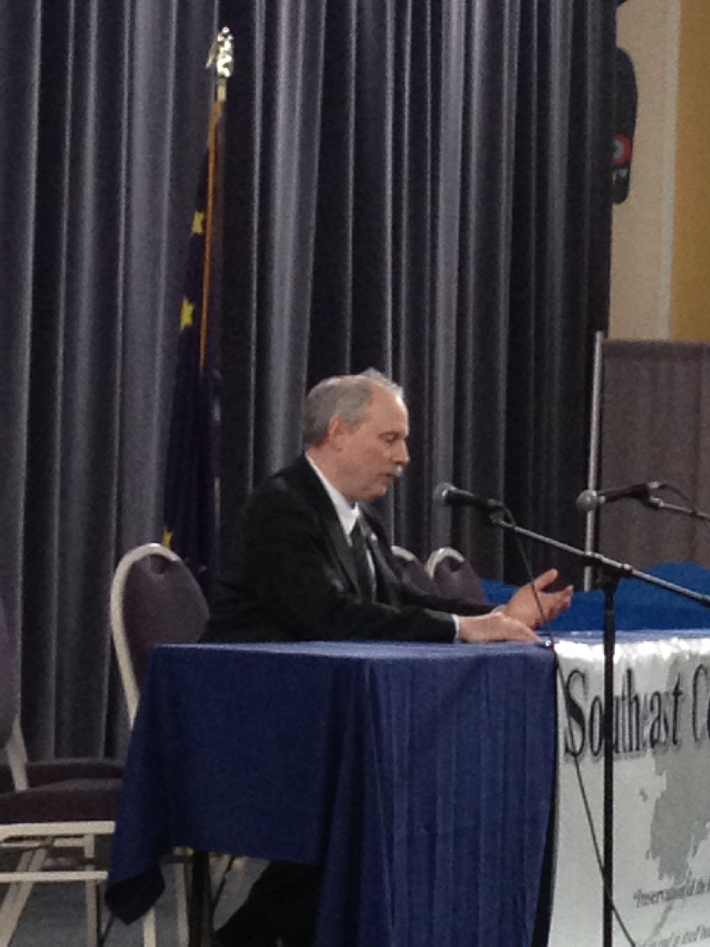 Senator Stedman addresses the Southeast Conference