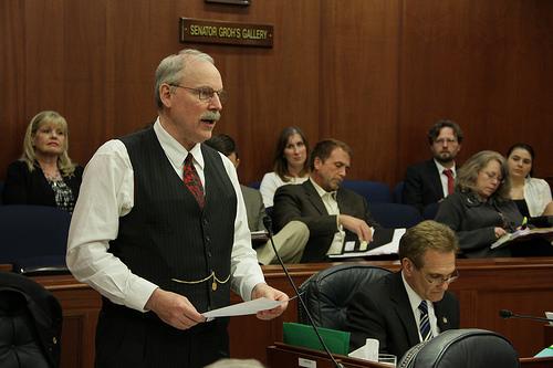 senator-stedman-speaking-on-the-senate-floor