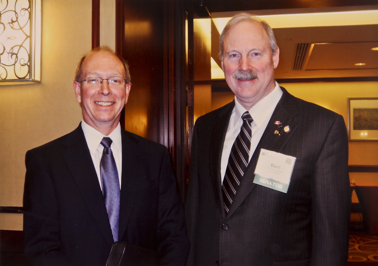 Senator Stedman and Gary Frazer, Assistant Director of Endangered Species with the U.S. Fish and Wildlife Service