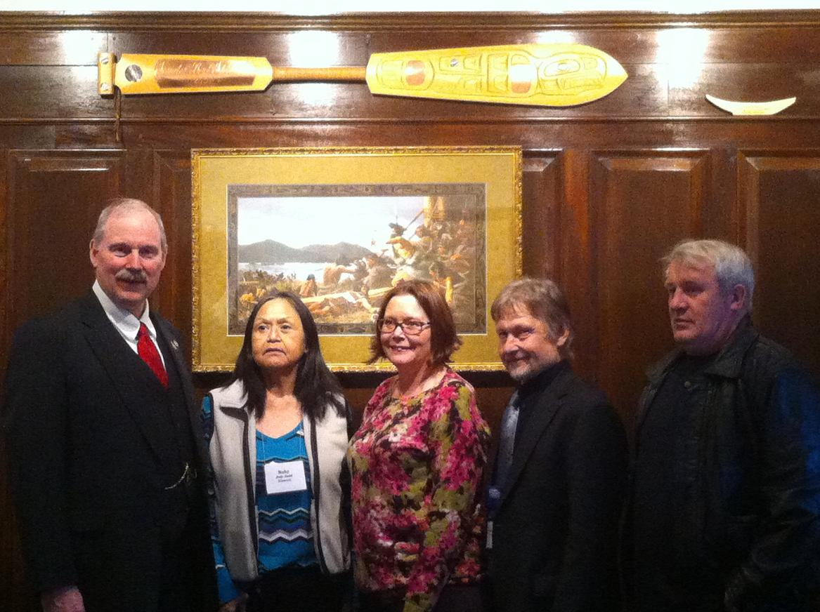 Senator Stedman with delegates from the Klawock City School District