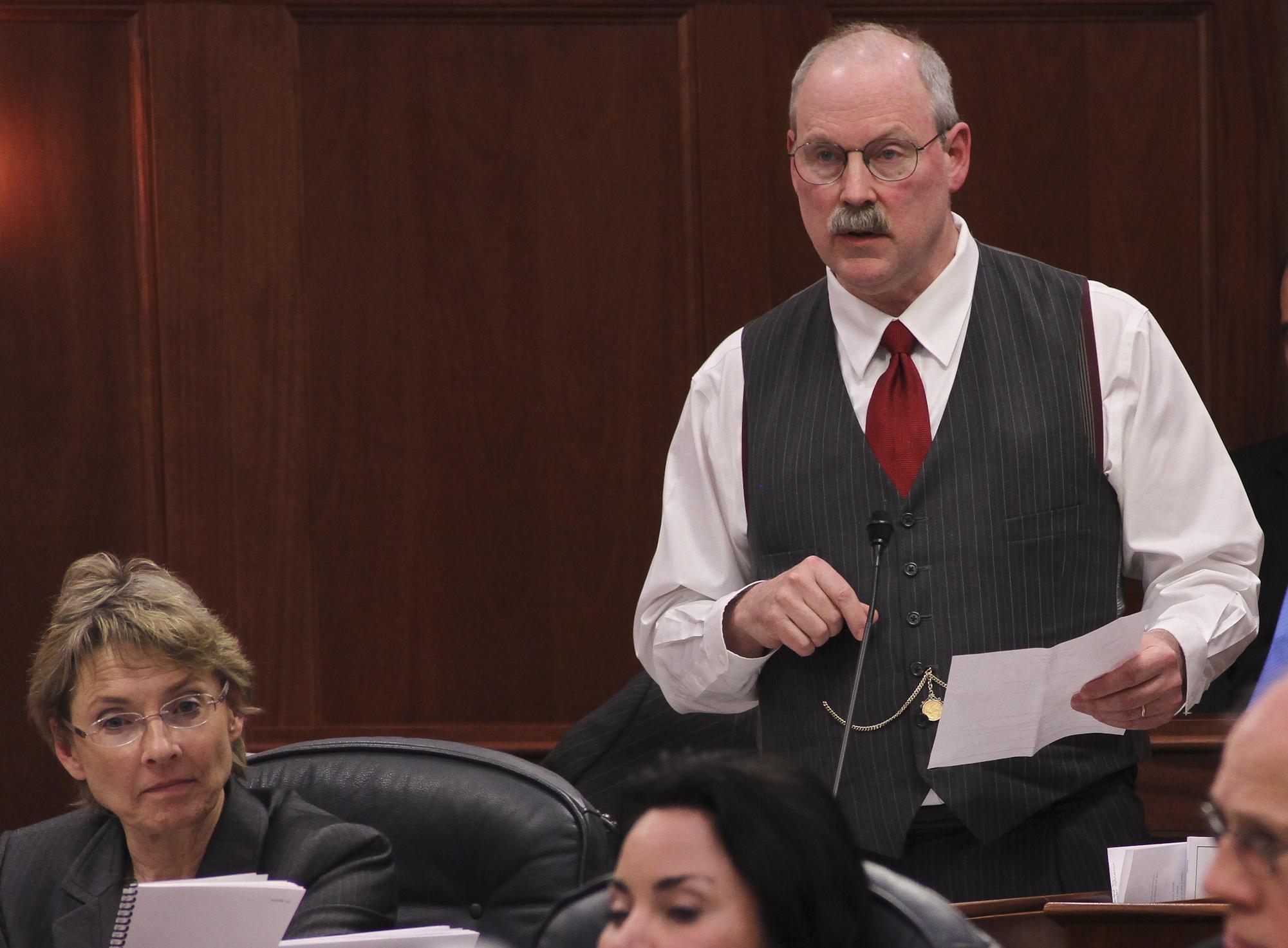 Senator Stedman defending the ownership interest of Alaskan's oil by speaking against SB 21 on the Senate floor