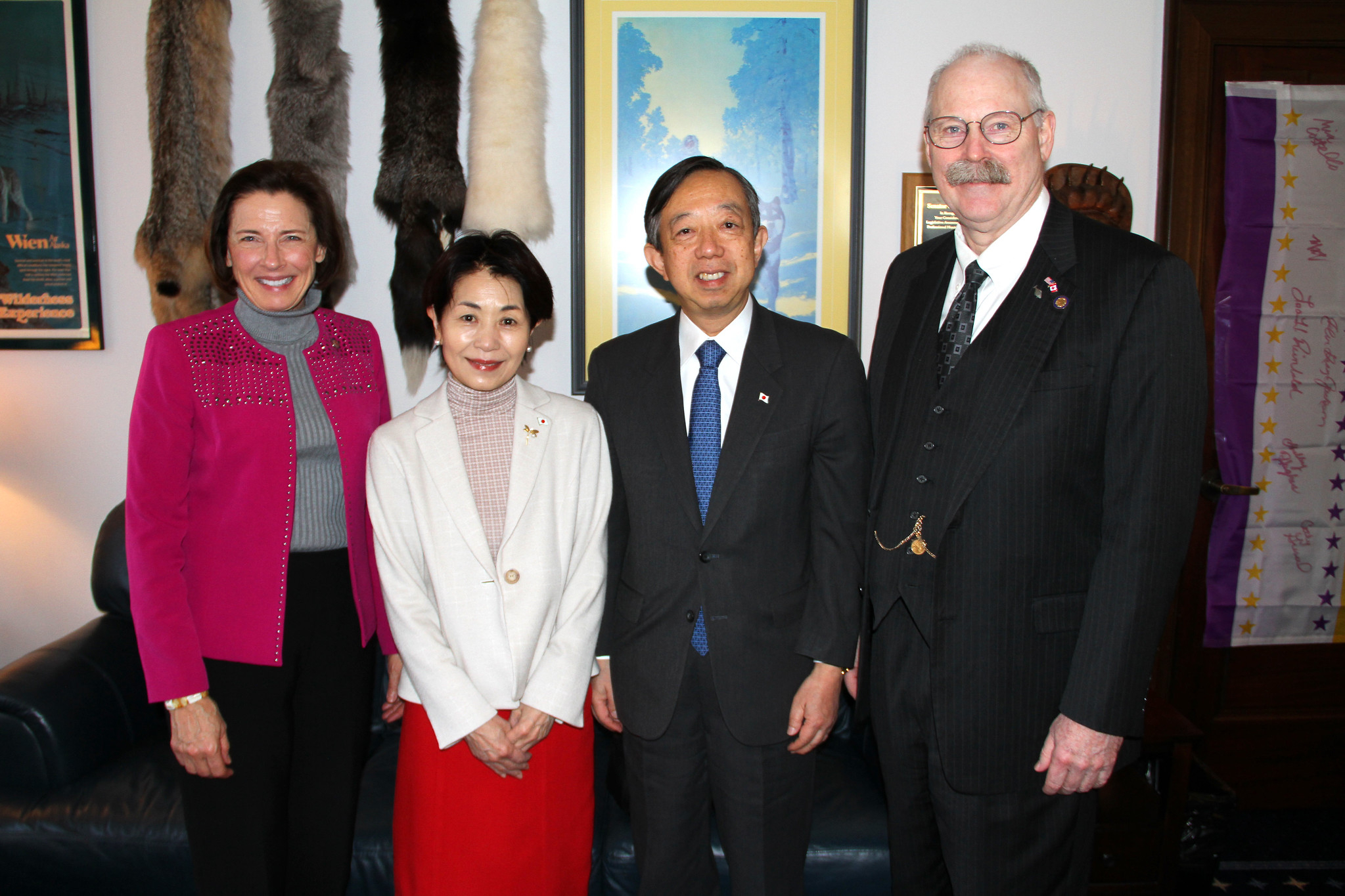 Senate President Giessel and Senator Stedman met w/  Consul Masatoshi Sato and his wife Kazue Sato