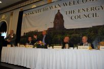 Senator Stedman and other panelists attending the Energy Council meeting