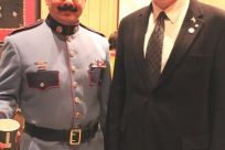 Senator Stedman and Commissioner Joseph Masters of the Department of Public Safety