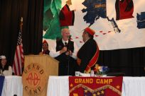 Senator Stedman pictured with Brother Wes Morrison during the ANB/ANS Grand Camp Convention.