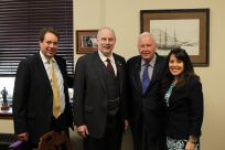 Senator Stedman and staff with Governor Frank Murkowski