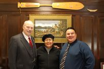 Senator Stedman pictured with ANB Camp 1 President Wilbur Brown and ANS Camp 4 Council member Pat Alexander