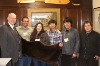 Students from the Kake City School District: Kaylee James, Kenneth Bean, Ryan Billie, Charles Duncan, and Brendan Fausett