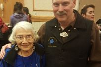 Senator Stedman pictured with Delores Churchill during the Alaska Federation of Natives Convention.