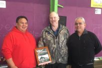 Senator Stedman pictured with ANB Camp 1 President Wilbur Brown and STA Tribal Chairman Michael Baines.
