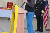Senator Stedman speaking at the grand opening of the Ketchikan Fire Station No. 1