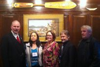 Senator Stedman with delegates from the Klawock City School District