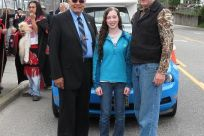 Senator Stedman with daughter Susie and Mayor of Saxman, Harvey Shields