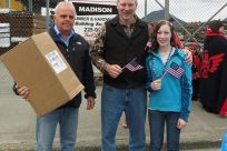Senator Stedman, his daughter Susie and Mayor Lew Williams of Ketchikan