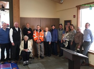 Senator Stedman with the Sitka Public Library board and supporters.