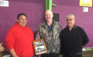 Senator Stedman pictured with ANB President of Camp 1 Wilbur Brown and STA Tribal Chairman Michael Baines